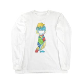 ねこけとり Long sleeve T-shirts