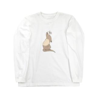 フェレット バタースコッチ Long sleeve T-shirts