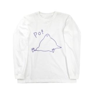 Po! 穏和な鳩 パープル Long sleeve T-shirts