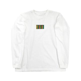 センター1800に貼るふせん Long sleeve T-shirts
