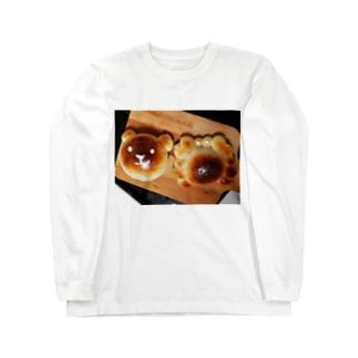 カニパンと熊パン Long sleeve T-shirts