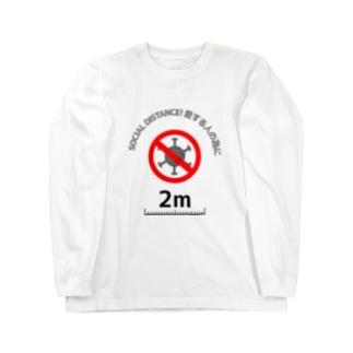 Life Design Factory PINCEのソーシャルディスタンス愛する人の為に Long sleeve T-shirts