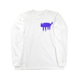 ヤミネコ Long sleeve T-shirts