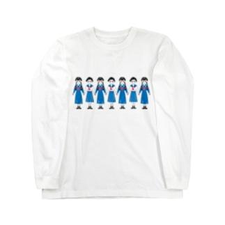 手をつなぐ女学生 Long sleeve T-shirts