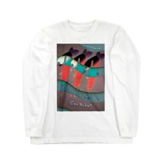 sea robot 海のロボット Long sleeve T-shirts