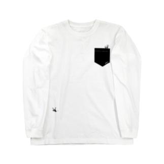 ポケットからARI 🐜 くろ Long sleeve T-shirts