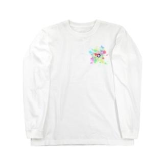 銃痕からカラフル Long sleeve T-shirts