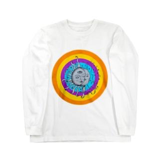 月と太陽(ヒッピーver) Long sleeve T-shirts
