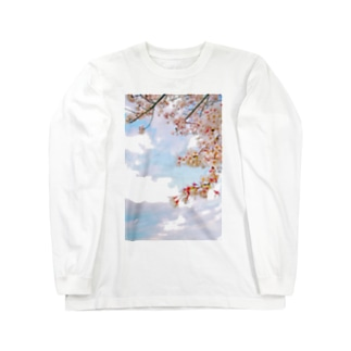 空と桜 Long sleeve T-shirts