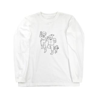 おウチでおドレ with ニャンコ Long sleeve T-shirts