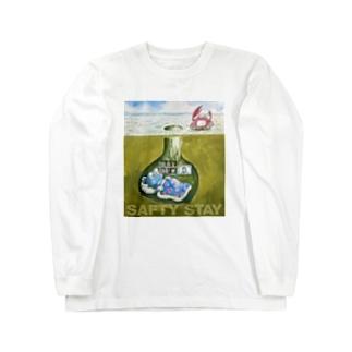 巣穴のガタゴロウ SAFTY STAY Long sleeve T-shirts