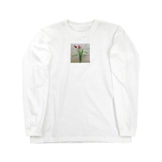 母が育てたチューリップ Long sleeve T-shirts