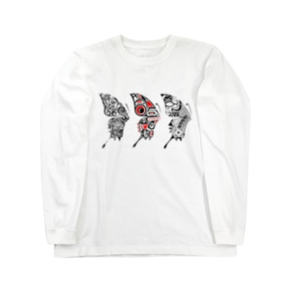 3 Butterfly Long sleeve T-shirts
