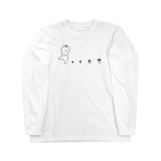 なめこがぽにょ~ん Long sleeve T-shirts