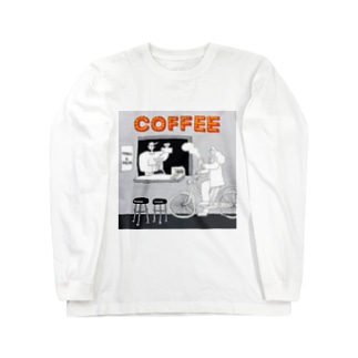 "shinri murakami "" COFFEE STAND "" Long sleeve T-shirts"