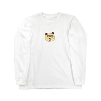 ガラス目玉たぬき Long Sleeve T-Shirt