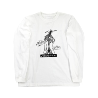 ミモザとコーヒー Long sleeve T-shirts