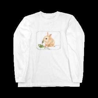 kitaooji shop SUZURI店のLapin angelique Long sleeve T-shirts