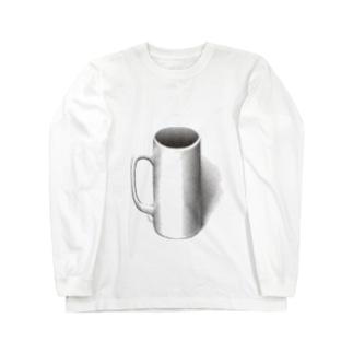 マグカップついてるよ Long sleeve T-shirts