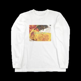 ぽんぽこやのたまごやき定食 Long sleeve T-shirts
