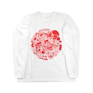 DOKAN_red Long sleeve T-shirts