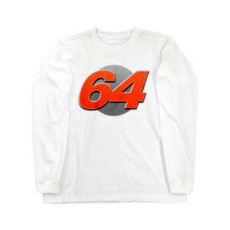 64controllの64controll Logo (Sports Ver.) Long sleeve T-shirts