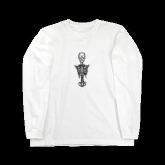 40's talonの四肢不自由骸骨 白 Long sleeve T-shirts
