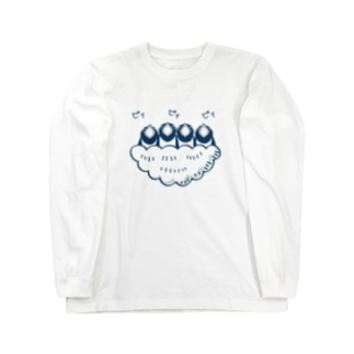 あずき缶のツバメの赤ちゃん Long sleeve T-shirts