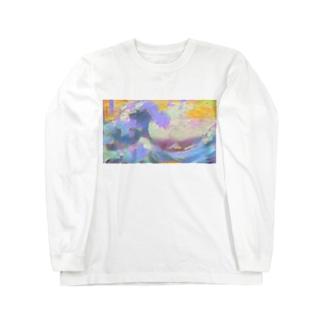 インスタ映えを意識しすぎた葛飾北斎 Long sleeve T-shirts