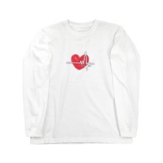 🅨🅤🅚🅘🅜🅔の心電図 Long sleeve T-shirts