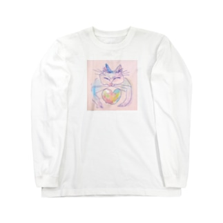 ネコトアイ Long sleeve T-shirts