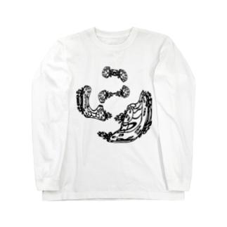 qethapethapの人花岩 Long sleeve T-shirts