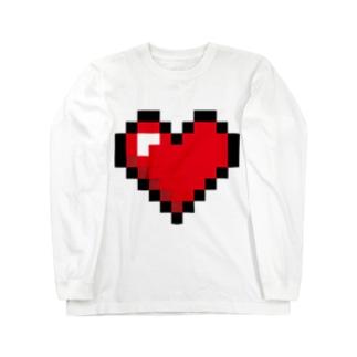 ドット絵ハート Long sleeve T-shirts