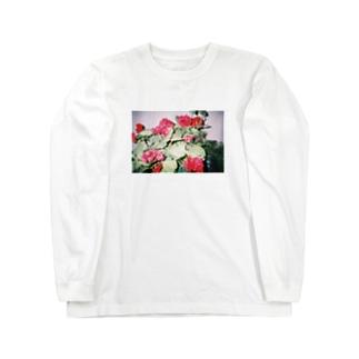 ピンボケフラワー Long sleeve T-shirts