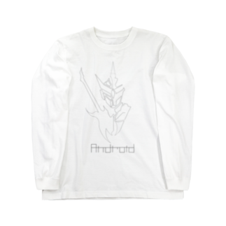 あんどうのandroid WHITE Long sleeve T-shirts