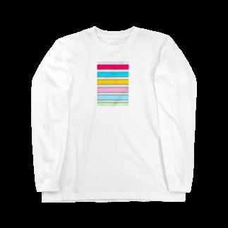 Sorapolice_pinopoliceのストライプ Long sleeve T-shirts