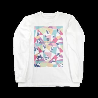 TakaJumpのPanda Climbing Long sleeve T-shirts