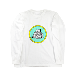 peacefulの重ね犬 Long sleeve T-shirts