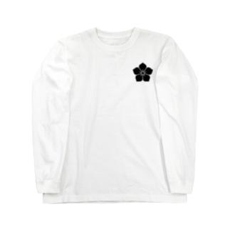 明智家の家紋(桔梗) Long sleeve T-shirts
