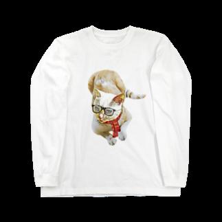 Rock catのメガネCAT Long sleeve T-shirts