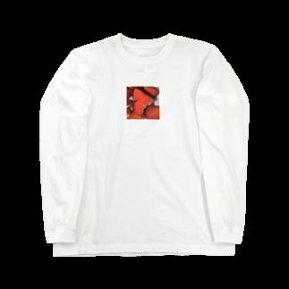 ぷえぷえの食べかけのいちごチャン Long sleeve T-shirts