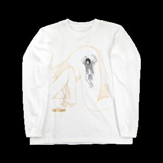 galleryHAKUSENの独身アパートどくだみ荘「飛び降りるヨシオ」 Long sleeve T-shirts