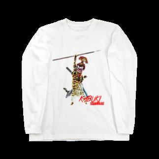 Rock catのKABUKI SAMURAI Long sleeve T-shirts