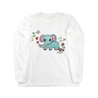 恋するゾーさん Long sleeve T-shirts