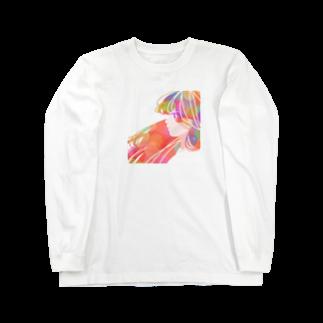 KINJI'sショップの透明GIRL Long sleeve T-shirts