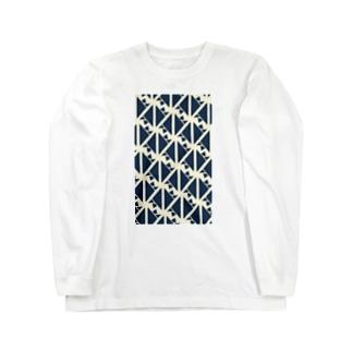 サーヴィエ行進曲 藍 Long sleeve T-shirts