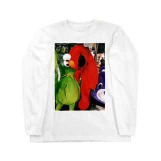 スーサイドエルモくん Long sleeve T-shirts