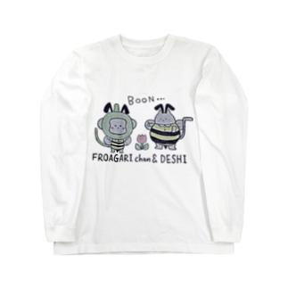 ふろあがりちゃん&弟子 蜂バージョン Long sleeve T-shirts