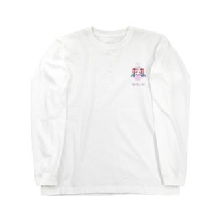 👼angel like a devil👿天悪ちゃんの微笑みヘラ天悪ちゃんロングスリーブ Long sleeve T-shirts