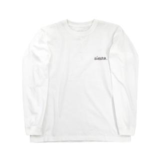 siesta. L/S Tシャツ white pick Long sleeve T-shirts